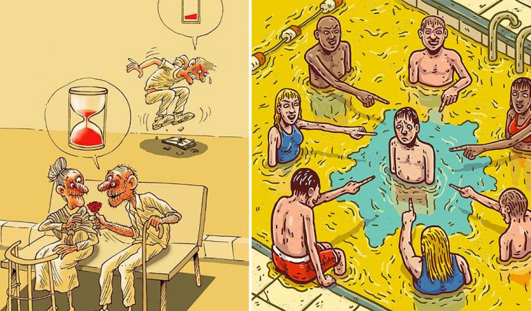 12 illustrations percutantes qui montrent ce qui cloche avec ce monde