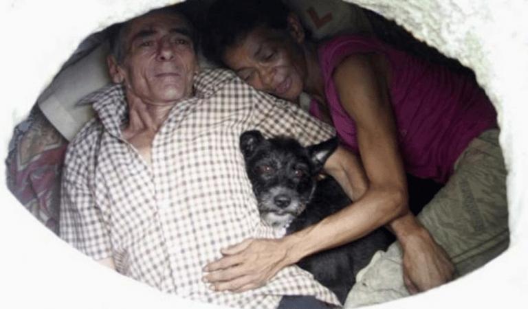 Par manque de moyen, ce couple vit dans les égouts depuis plus de 20 ans