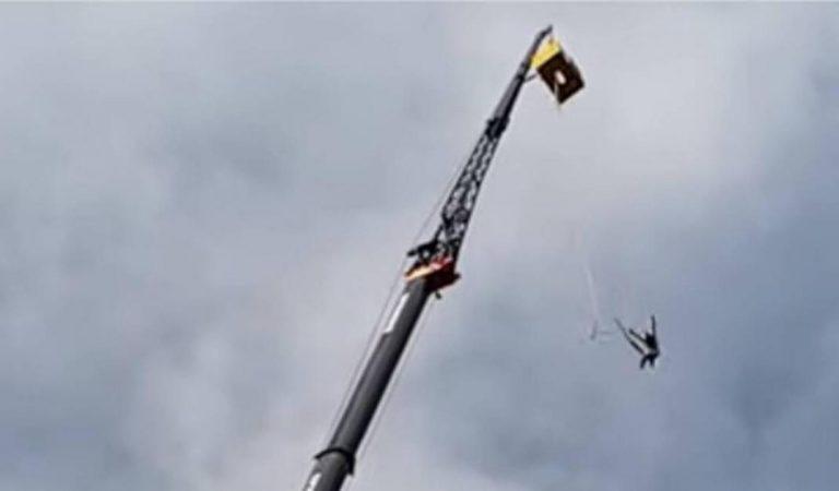 Saut à l'élastique: son harnais se détache en pleine chute (vidéo)