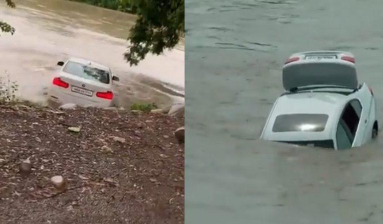 Déçu de ne pas avoir reçu une Jaguar pour son anniversaire, il jette sa BMW Série3 dans une rivière