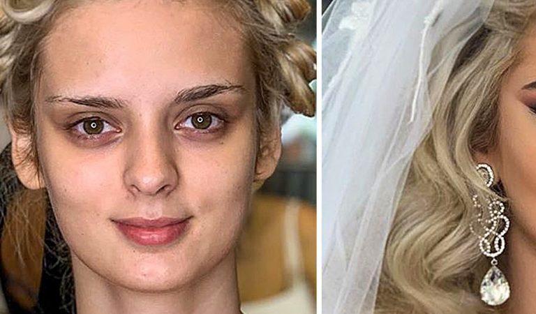 24 photos de mariées capturées avant et après le maquillage