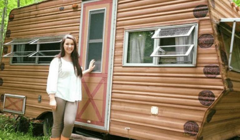 Une ado de 14 ans achète et transforme un vieux camping-car en un endroit merveilleux