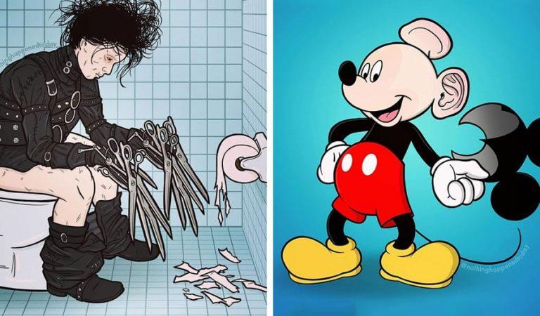 10 illustrations qui dévoilent les petits secrets de vos héros de films et dessins animés préférés