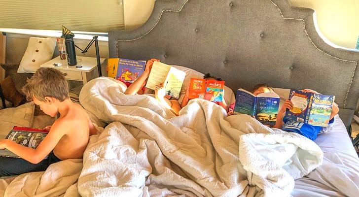 Interdits de tablettes et de télévision, ses enfants développent une passion pour la lecture
