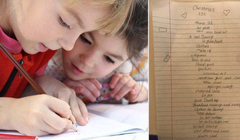 iPhone 11, MacBook Air, GoPro,… La liste de Noël d'une enfant de 10 ans qui effraye les internautes