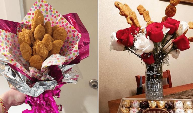 Saint-Valentin : il est désormais possible d'offrir un bouquet de nuggets à son partenaire