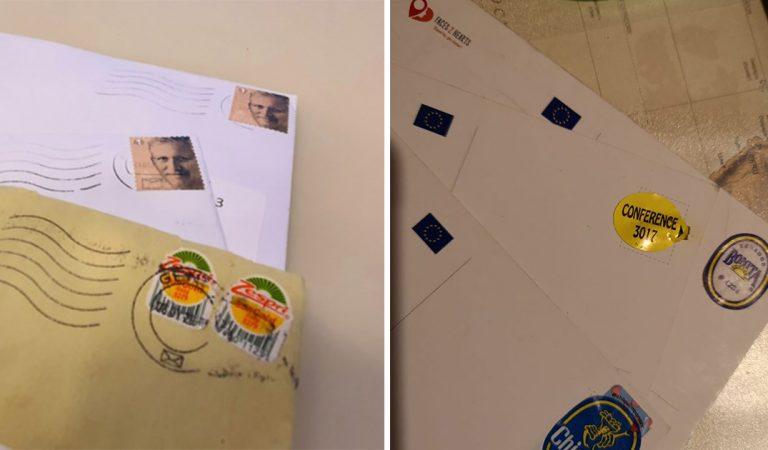 Belgique : ils envoient des lettres avec des stickers de kiwi à la place des timbres