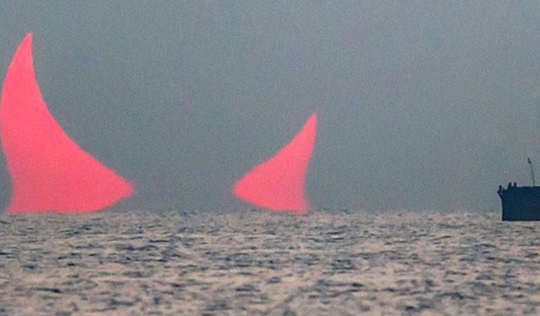 Le lever de soleil « corne du diable » au Qatar est bien réel
