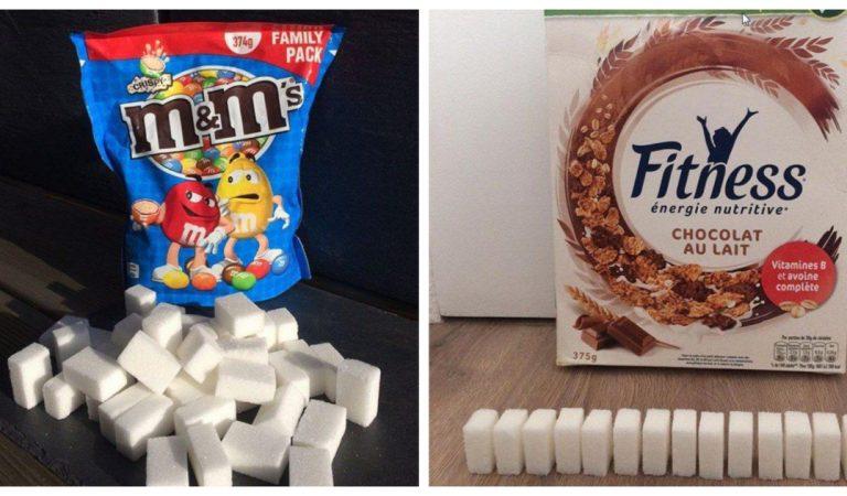 Top 15 des produits les plus consommés et leur équivalent en morceaux de sucre