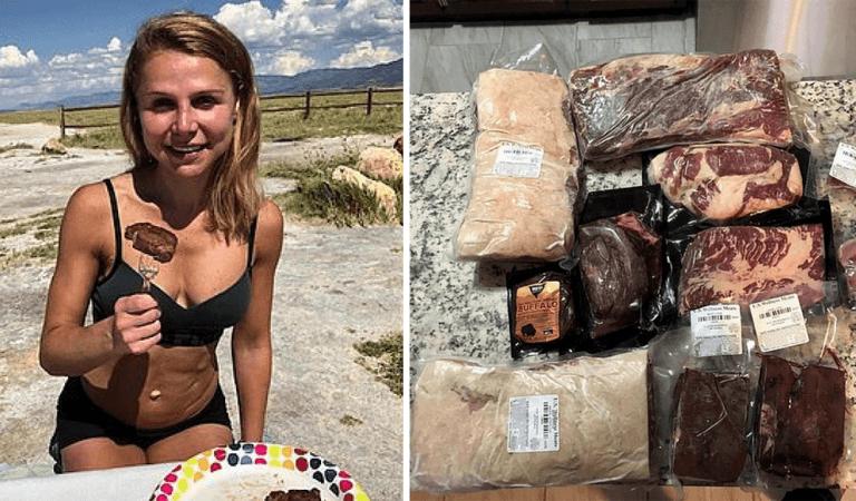 Une femme végan s'est mise à manger de la viande après avoir frôlé la mort