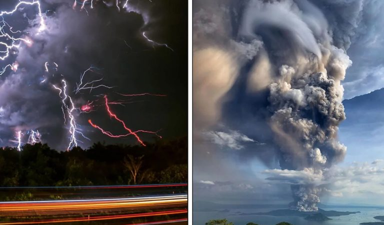 Les 16 photos incroyables de l'éruption du volcan Taal aux Philippines