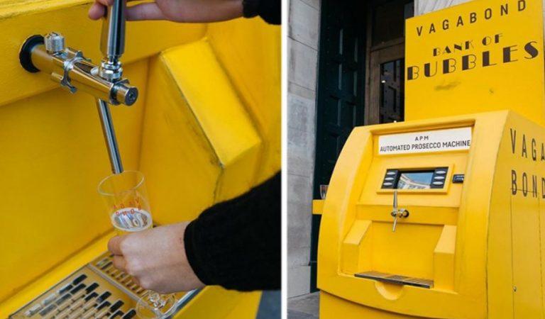 Un distributeur de Prosecco gratuit installé en plein cœur de Londres
