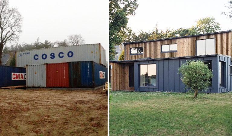 Dinan : il construit une maison luxueuse avec six containers