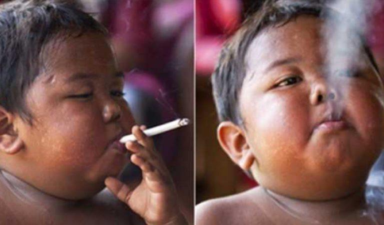 Le garçon de 2 ans qui fumait 40 cigarettes par jour a bien changé