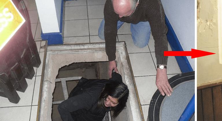 Quand les ouvriers trouvent une trappe, ils appellent immédiatement les gérants du magasin
