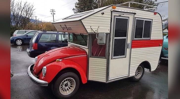 Mi-coccinelle, mi camping-car: ce véhicule rare qui nous donne l'envie de voyager