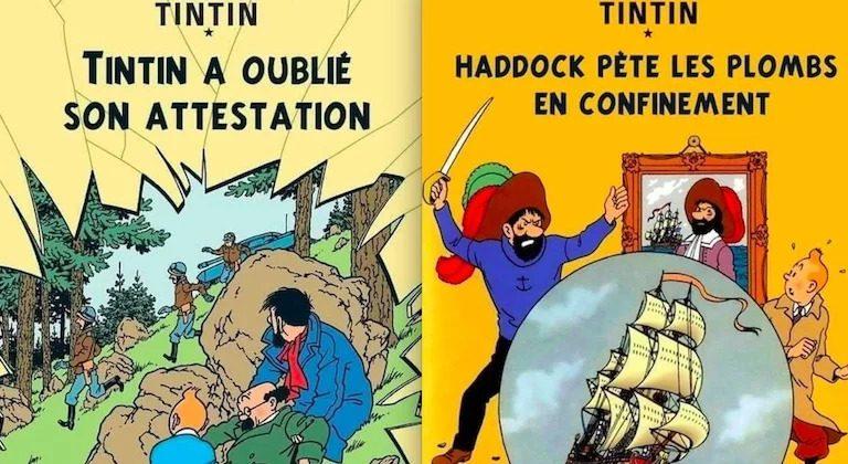 Coronavirus : il détourne les couvertures des BD de Tintin et c'est vraiment hilarant