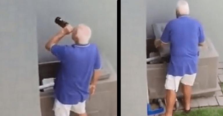 Drôle : Il se cache de sa femme pour boire un coup, mais se fait surprendre par son voisin