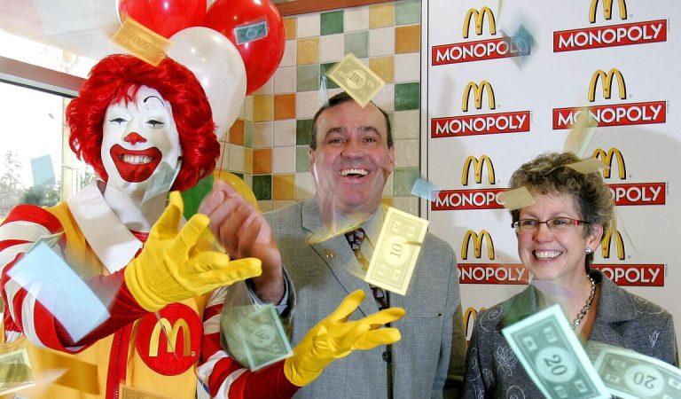 Monopoly Mc Do : 1000 personnes auront la chance de manger gratuitement pendant un an au McDonald's
