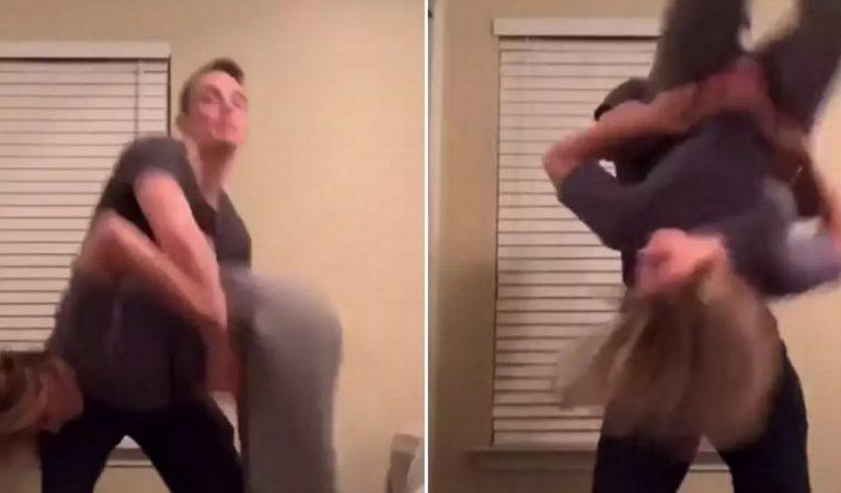 Elle lâche un gros pet sur le visage de son copain alors qu'ils réalisent une vidéo pour TikTok