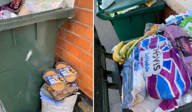 Honteux : des photos de poubelles débordant de produits frais après l'achat de panique dans les supermarchés