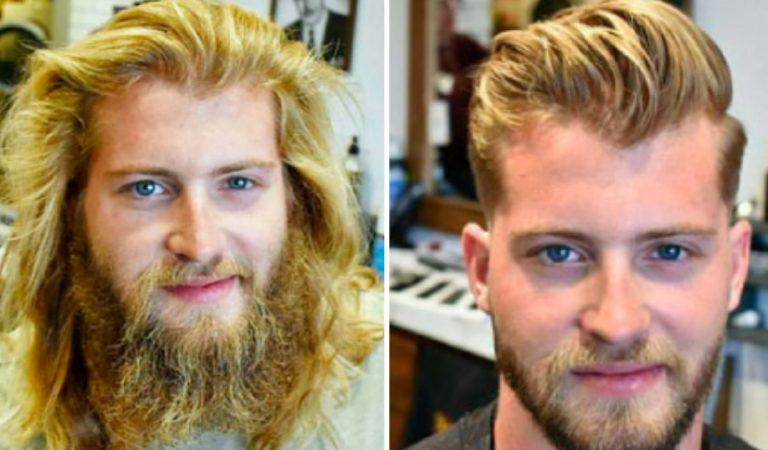 Ces 25 photos avant et après prouvent qu'une coupe de cheveux change un homme