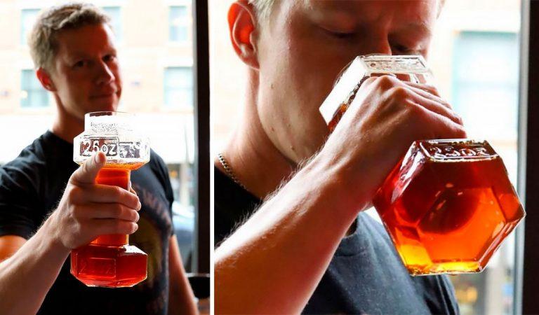 L'« haltère-verre à bière » pour les sportifs amateurs de houblon