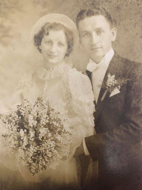 Jennie Stejna et son mari Teddy mariage 1938