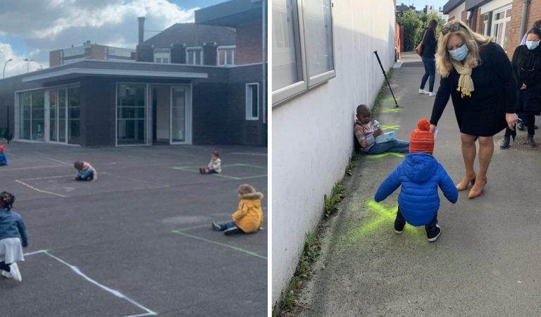 Déconfinement: les photos d'une cour de récréation en maternelle est à briser le cœur