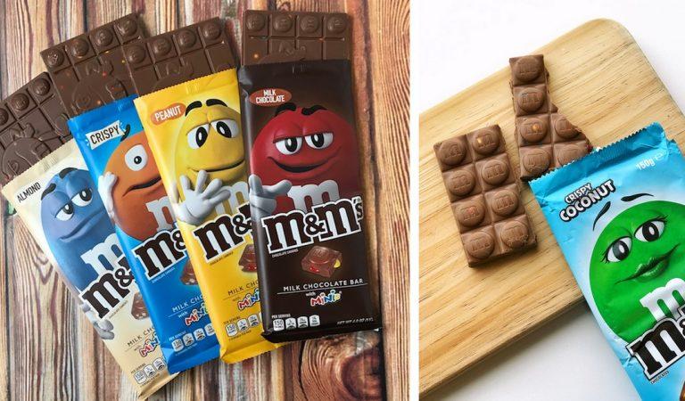 Les barres chocolatées M&M's débarquent sur le marché !