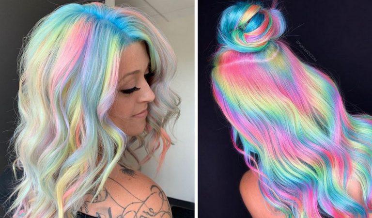 Coloration holographique : la nouvelle tendance capillaire qui donne un éclat arc-en-ciel à vos cheveux.