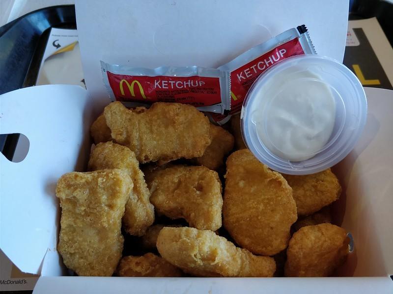 Les Nuggets McDonald's sont riches en sucre et en gluten.