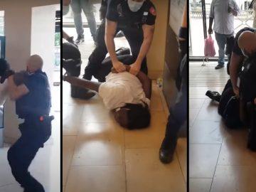 arrestation brutale femme enceinte sncf