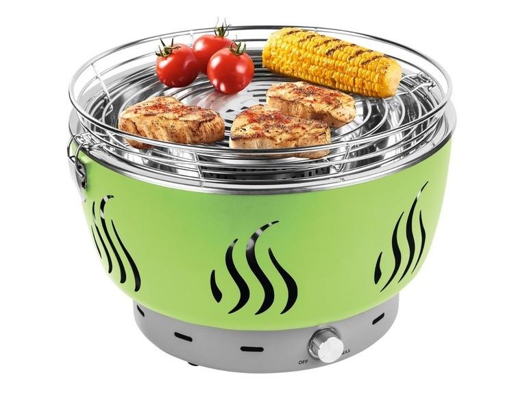 barbecue compact Lidl à piles et à charbon