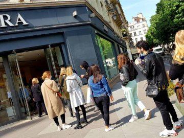 Des files d'attentes devant Zara après le déconfinement : les clients veulent un tee-shirt vendu à moins de 6 euros