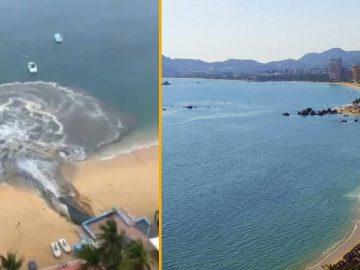 La baie d'Acapulco, souillée par l'eau des égouts.