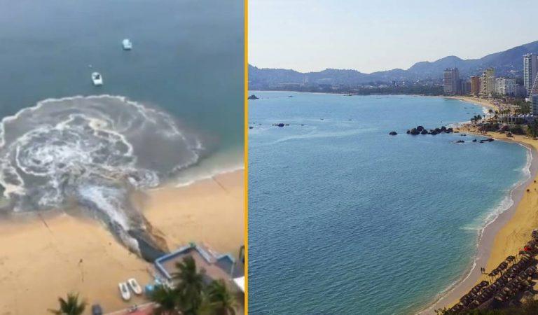 L'eau sale des égouts versée «par erreur» dans les eaux turquoises d'Acapulco : les images choc (vidéo)