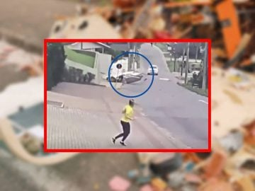 L'avion qui s'écrase sur le trottoir au Brésil.