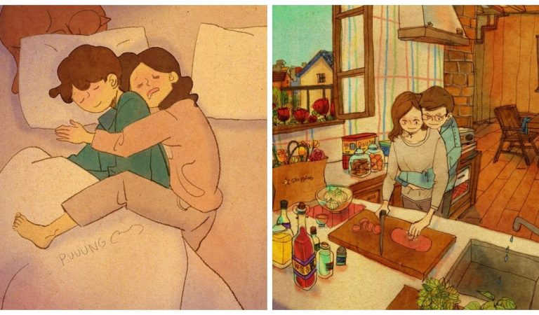 10 illustrations qui prouvent que l'amour se cultive avec de petites attentions…