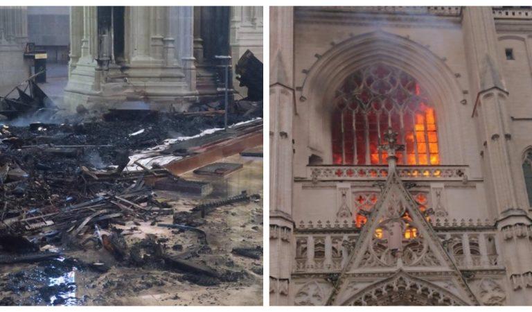 Des photos et vidéos inédites de l'incendie de la cathédrale de Nantes