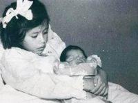 Lina Medina et son bébé.