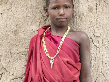 Une jeune fille massaï.