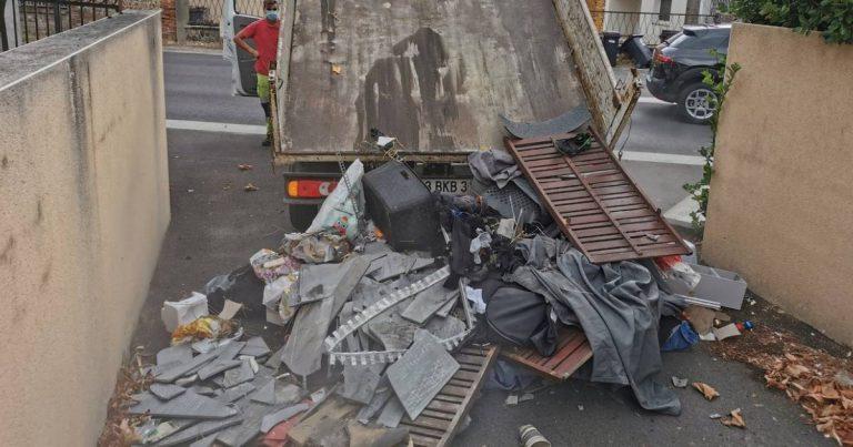 Des déchets déversés devant le domicile de l'artisan pollueur.