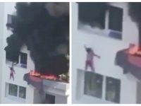 L'incendie de Grenoble filmé par un témoin.