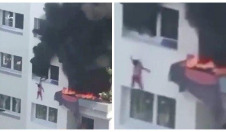 Grenoble : l'incroyable sauvetage de deux enfants qui sautent du 3ème étage pour échapper aux flammes (Vidéo)