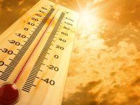 Un thermomètre sous la chaleur.