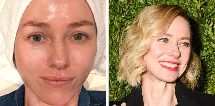 Naomi Watts sans maquillage