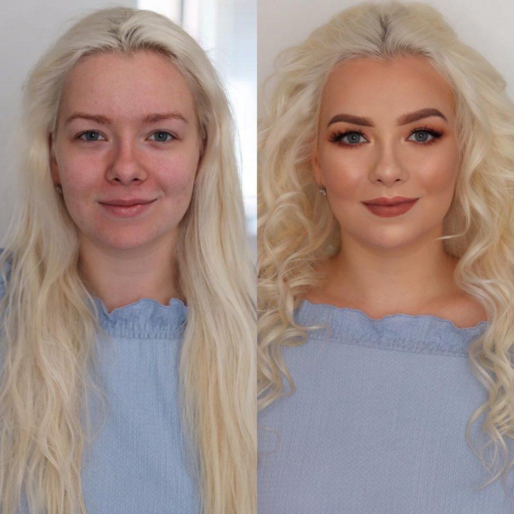 make-up agrandir regard