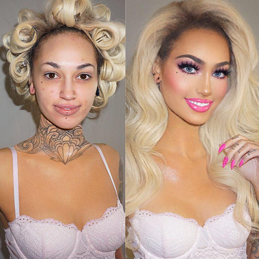 maquillage transformation