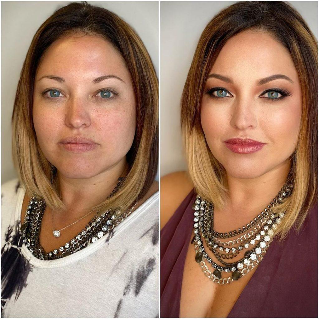 technique make-up contouring